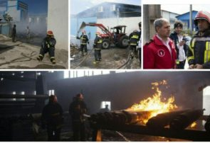 آتشسوزی نفسگیر در شرکت کارتنسازی شهر صنعتی رشت