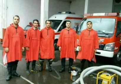 آماده باش نیروهای عملیاتی سازمان آتش نشانی و خدمات ایمنی شهرداری