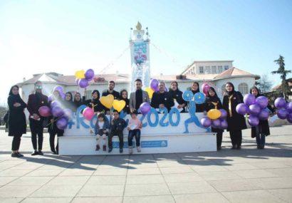 حرکت نمادین در پیاده راه فرهنگی رشت به نفع بیماران سرطانی+تصاویر