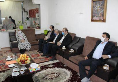 عیادت نماینده و فرماندار رضوانشهر از خبرنگار گیلانی